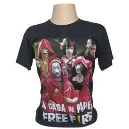 Camisetas camisa la casa de papel de 59,90 por 39,90 lançamento
