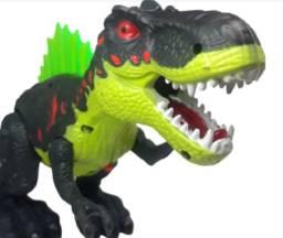 R$119,90 - Dinossauro Spray Flame Tyrannosaurus Solta Fumaça Com Luz