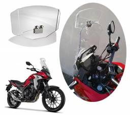 Defletor bolha moto universal cb500x nc 700 750 tiger 800