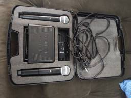 Kit de microfone sem fio profissional com interface portátil