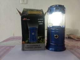 Lanterna e lampião recarregável