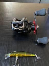 Carretilha carretel para pesca pescaria lago fazenda