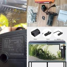 Bomba aquário 220v /5w com filtro cascata e bolhas
