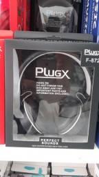 Fone de ouvido Plugx Alta qualidade Novo na Caixa
