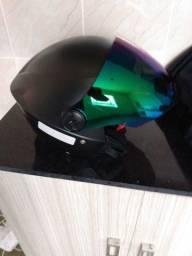 Capacete pro Tork novo com viseira camaleão usado uma vez.