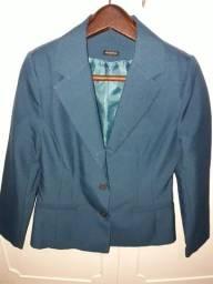 Camisa/blusa azul forrada