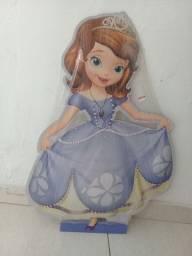 Display em mdf da princesa Sophia com 1 metro