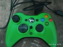 Controle Xbox360 com cabo carregador e Bateria recarregável