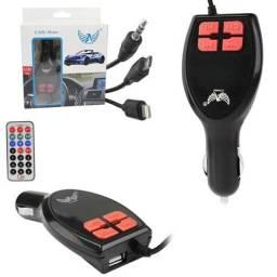 Transmissor Bluetooth para Carro com Carregador