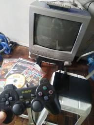PS2 + TV 14 polegadas