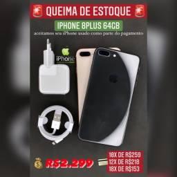 iPhone 8plus 64GB vitrine super oferta