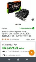 Placa de video GTX 1650 4GB