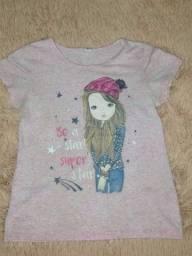 Camisa feminina infantil