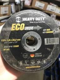 Título do anúncio: Disco de corte inox 115 x 1,0 x 22,2mm heavy duty