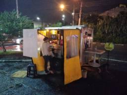 Carretinha, reboque Aluminio Bau fechado, Food truck, carrinho hot-dog
