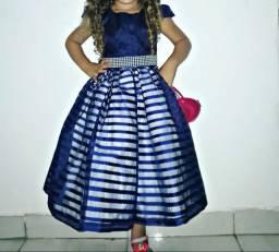 Vestido luxo azul royal