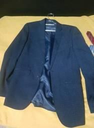 Terno Azul Marinho - Cia do Terno + Colete + 3 Gravatas