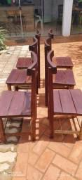 Jogo de cadeiras madeira maciça 180 cada