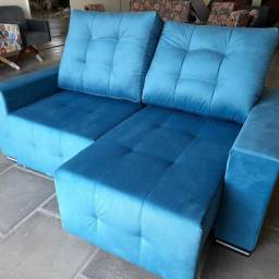 Estofado Sofa Retrátil Reclinável 2 Lugares Direto da Fábrica