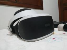 Playstation VR usado com controles de movimento