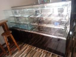 Estufa de salgado,balcões refrigerados de tortas,doces,bolos