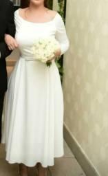Vestido de noiva perolado finíssimo de grife novo!