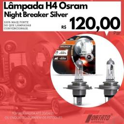 Lâmpada H4 Osram NightBreaker Silver 100% mais luz