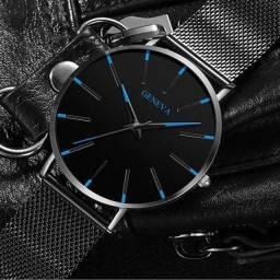 Relógio Masculino Ultra Fino Minimalista Analógico