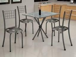 Título do anúncio: Só HOJE!! Promoção Mesa Carol com 4 Cadeiras Tampo de Pedra - Só R$459,00