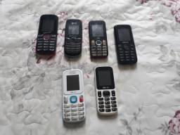6 celulares para vender Sime novo, cada um é  70