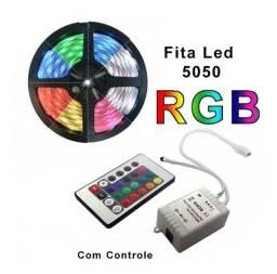 Fita De Led Rgb 5050 Rolo 5 mts 12v Controle Remoto