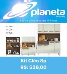 Kit d Armário Cléo 8P montagem grátis