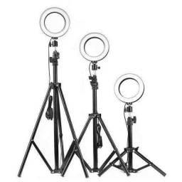 Iluminador RING LIGHT 26 cm com Tripé  + suporte central