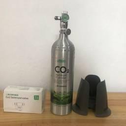 CILINDRO DE CO2 ISTA 1 L + válvula solenoide e adaptador para recarga