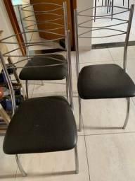 kit 4 cadeiras pretas