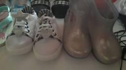 Sandálias novas e semi novo