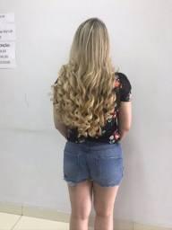Aplique cabelo natural duas telas