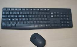 Teclado e Mouse Logitech sem fio