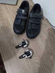 Kit. sapatilha+ pedal clip+ taquinho