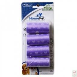 Refil Cata Caca com 4 unidades Roxo - Home Pet