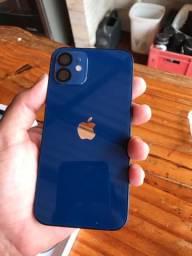 iPhone 12 64 gb azul Anatel  NOVO