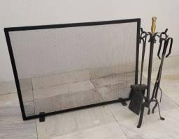 Acessórios para Lareira (Limpeza e proteção)