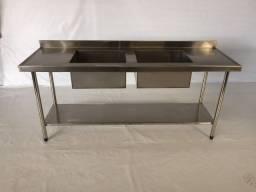 mesa / bancada aço inox puro
