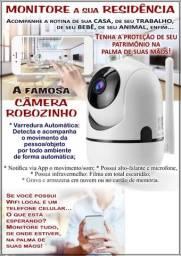 Câmera Wi-Fi   Robozinho - Varredura Automática por detecção de movimento   HD 720p