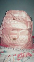 Kit bolsa maternidade rosê 2 peças