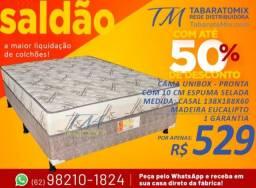 Com Selo do Inmetro, Qualidade Garantida! Box Casal 10CM Espuma Selada!