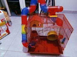 gaiola 3 andares+ ração e forragem