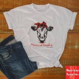 Camiseta Low Carb Is Life Preta - Camiseta em 100% algodão.