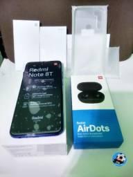 Promoção Xiaomi Redmi Note 8T + Fone Airdots v. Global 64GB 4GB Ram + Película 5D+Capinha