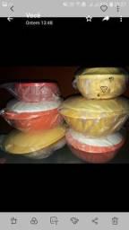 Comjunto tupperware composto por 6 peças